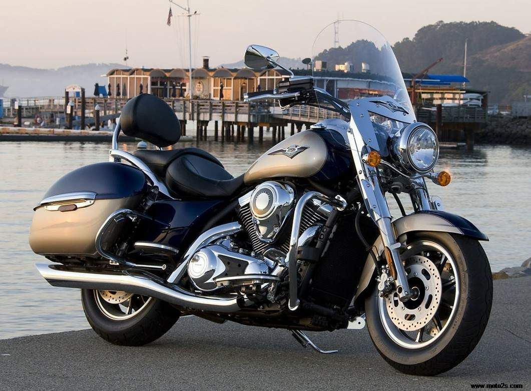 Chrome Saddlebag Supports Kawasaki Vulcan 1700 VN1700 Classic Models 09